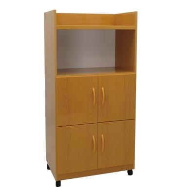 品家居 林歐2.2尺環保塑鋼四門餐櫃(四色可選)-64x41.5x119cm免組