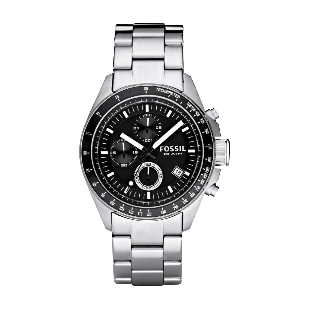 FOSSIL 都會摩登三眼計時腕錶(CH2600IE)-黑/44mm