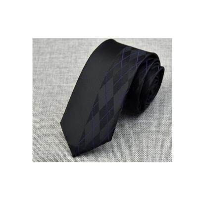 拉福 領帶窄版領帶 6 cm格少風領帶拉鍊領帶(黑)