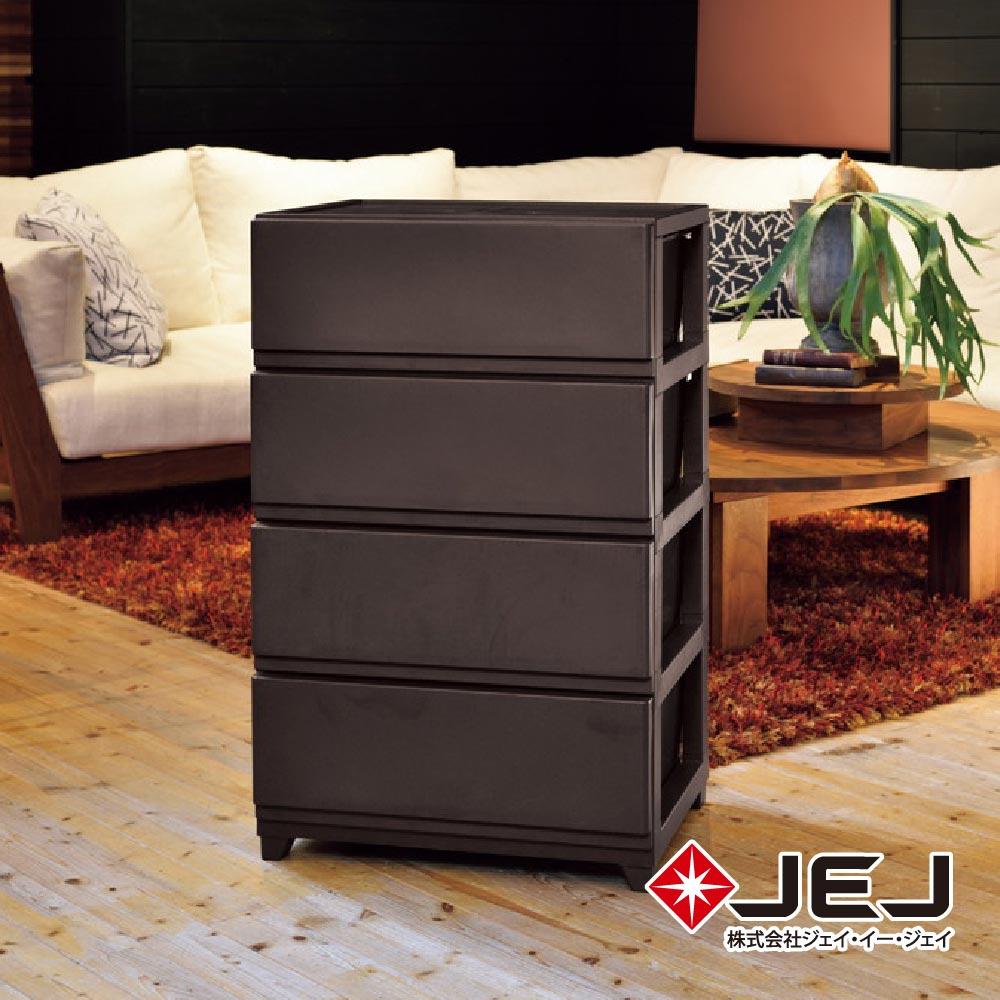 日本JEJ DECONY CEVO寬版組合式抽屜櫃 4抽 兩色可選