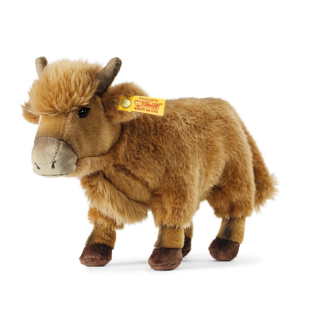 STEIFF德國金耳釦泰迪熊 - Kyle Highland Cow (動物王國)