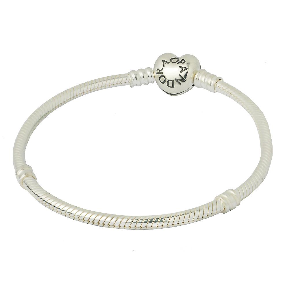 【Pandora】愛心扣頭純銀手鍊