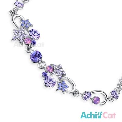 AchiCat 白K手鍊 燦爛夜空 (紫鋯)