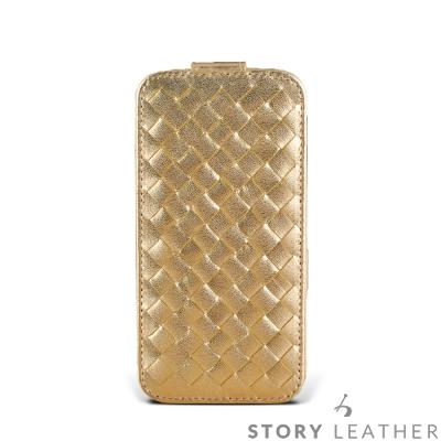 SONY XZs / XZ Premium PDA式上蓋編織紋 客製化皮套