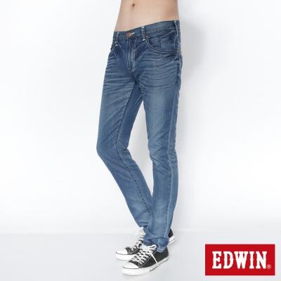 EDWIN瞬間涼感B-T-COOL玉纖維窄直筒牛仔褲-男-石洗藍