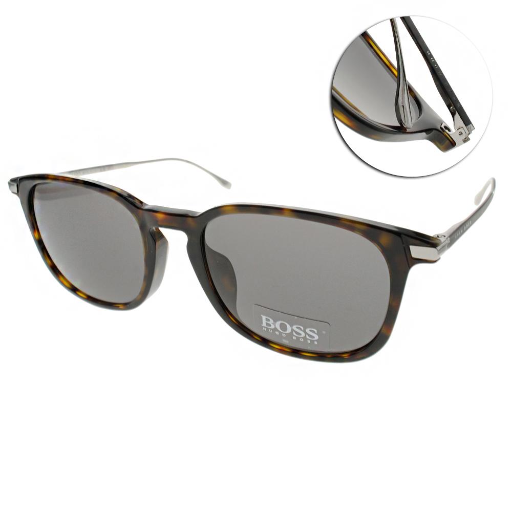 HUGO BOSS太陽眼鏡 經典紳士款/琥珀#HB0818FS 0PCY1
