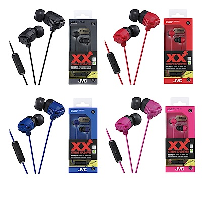 JVC手機用XX重低音耳道式耳麥HA-FR202