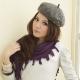 I-shi  暖呼呼~波西米亞三角圍巾(紫色