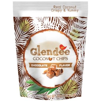 Glendee椰子脆片-巧克力40g