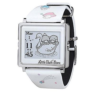 Smart Canvas 雙星仙子 電子紙腕錶 (銀框)