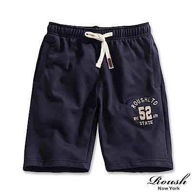 Roush 美式52立體貼布棉質短褲(2色)
