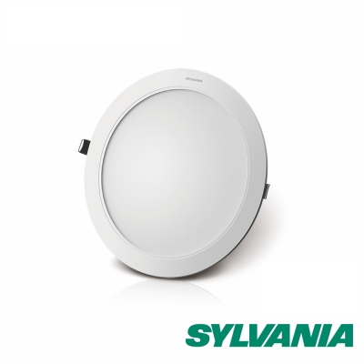 SYLVANIA喜萬年  12 W LED 超薄嵌燈 黃光 3000 K全電壓  1 入