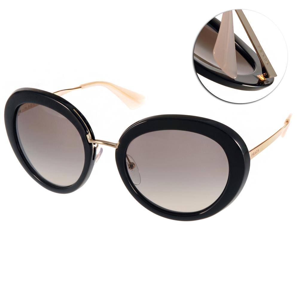 PRADA太陽眼鏡 歐美復古圓框黑-金#PR16Q 1AB0A7