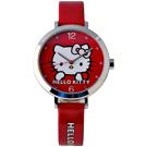 Hello Kitty 夢幻憧憬造型腕錶-紅/30mm