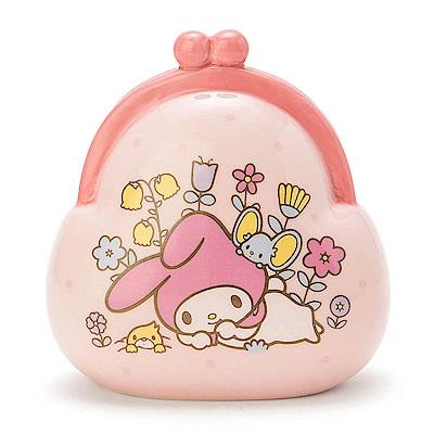 Sanrio 美樂蒂復古口金包造型陶磁存錢筒