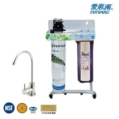 愛惠浦-EVERPURE-公司貨淨水器-QL3-S100-加贈前置單道立架組