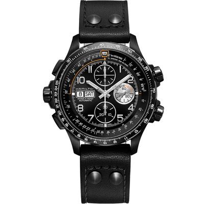 Hamilton 漢米爾頓 Khaki X-Wind御風者自動計時腕錶-45mm/黑色