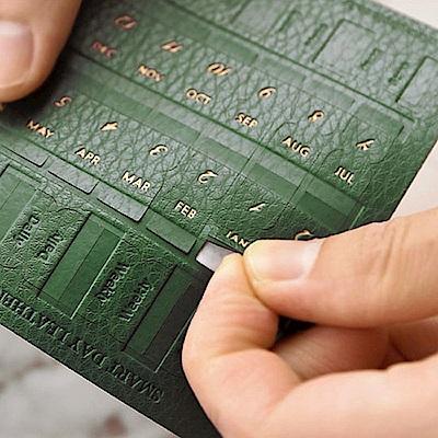 PLEPIC 經典造型皮革標籤貼-森林綠