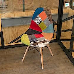 IDEA-摩登復刻拼布休閒餐椅
