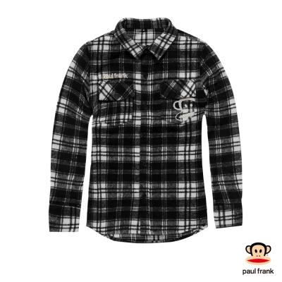 PAUL FRANK-男朋友風格紋黑白經典襯衫-黑(女)