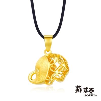 蘇菲亞SOPHIA - G LOVER系列 縷空大象黃金項鍊