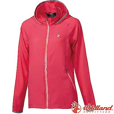 Wildland 荒野 0A61901-09桃紅色 女彈性抗UV輕薄外套