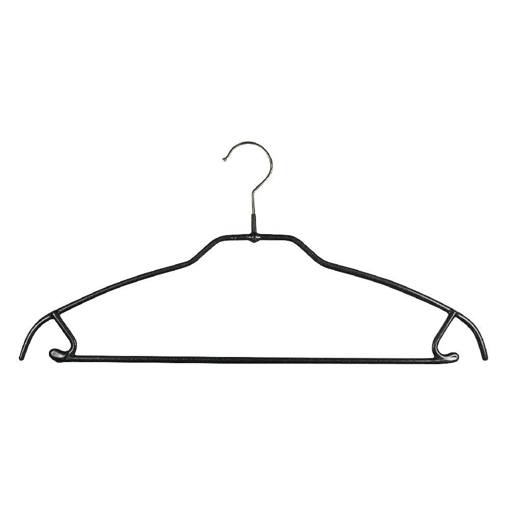 德國MAWA 時尚都會套裝衣架42cm/黑色 (10入)