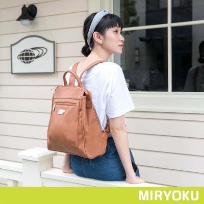 MIRYOKU-青春斜紋系列-簡潔率真雙夾層後背包