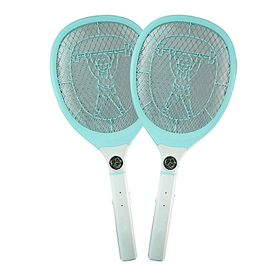 (2入組)KINYO LED三層防觸電捕蚊拍電蚊拍(CM-2229)充電式