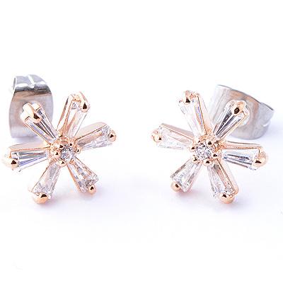 【山本美樹】瑪格麗特 白色小花奧地利水晶針式耳環(共兩色)