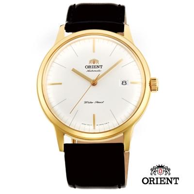 ORIENT 東方錶 DATE系列 巨蛋玻璃機械錶-金色/40.5mm