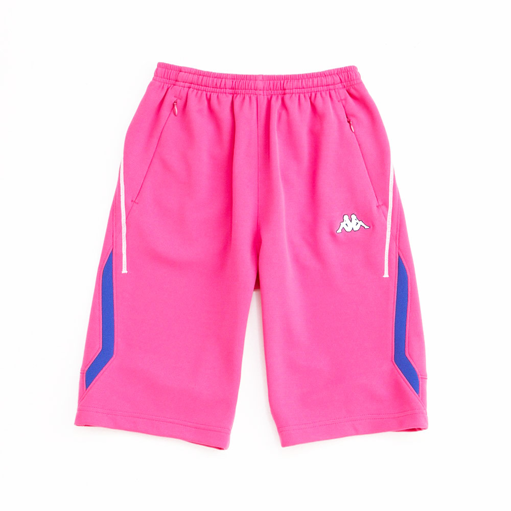 KAPPA義大利小朋友吸濕排汗速乾針織半短褲~櫻桃紅色