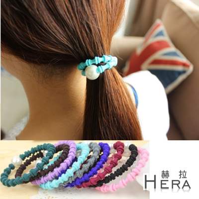 Hera 赫拉 珍珠竹節手圈/髮圈/髮束-五入組(不挑色)