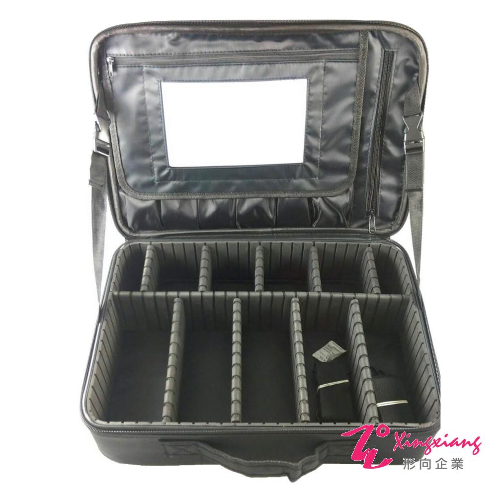 Xingxiang形向 雙層收納化妝箱(附雙背帶+鏡子) 6K-31A