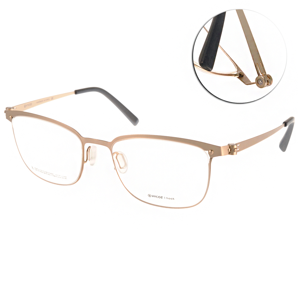 VYCOZ眼鏡 極簡薄鋼款/金#DECK GOL