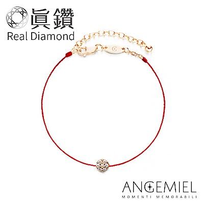 Angemiel安婕米-真鑽幸運紅繩手鍊-玫瑰金