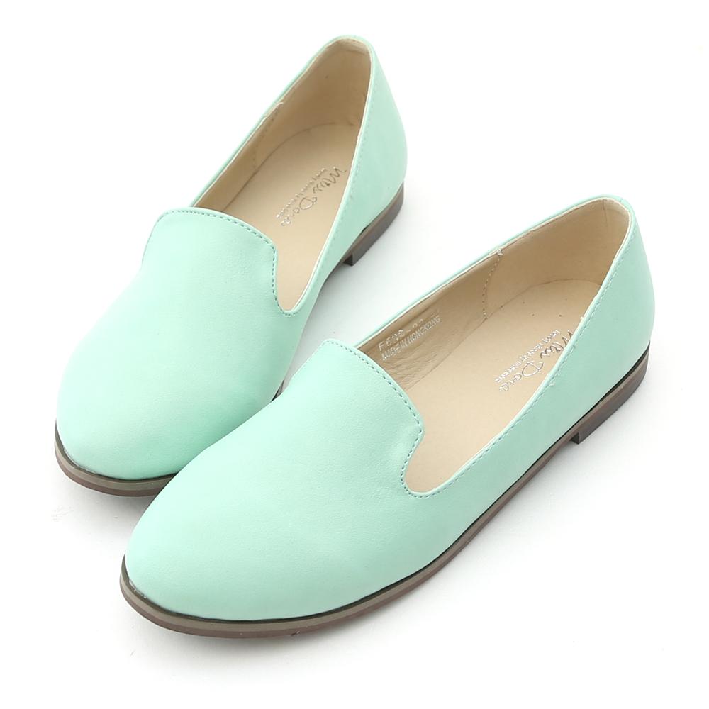 Miss Dora 話題單品.繽紛糖果色平底樂福鞋*綠