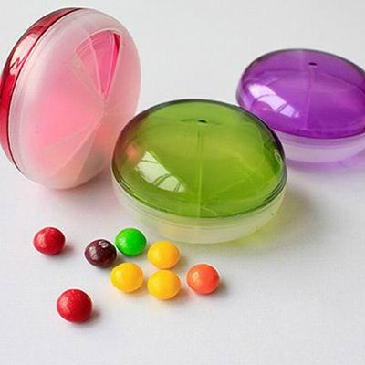 iSFun 糖果飛碟 透明旋轉藥盒 三色選+隨機色