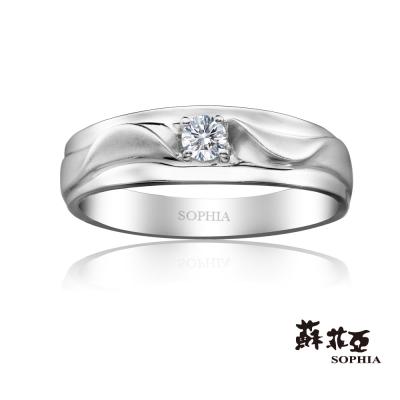 蘇菲亞SOPHIA 鑽石男戒 -戀愛進行曲0.10克拉八心八箭鑽石男戒