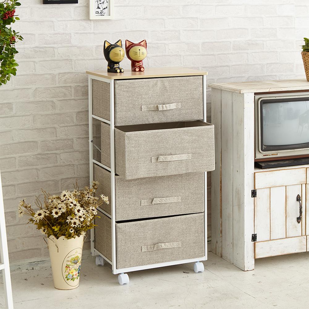 IKLOO宜酷屋_日系上木板四層抽屜收納櫃
