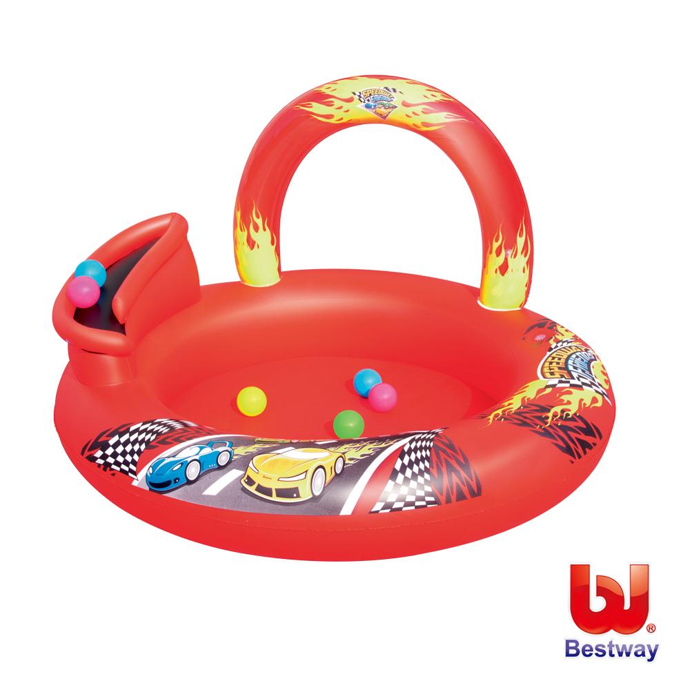 賽車圖案充氣遊戲池/球池/水池(附6顆球)