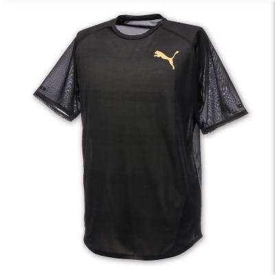 PUMA-男性訓練系列麻花短袖T恤-黑色-歐規