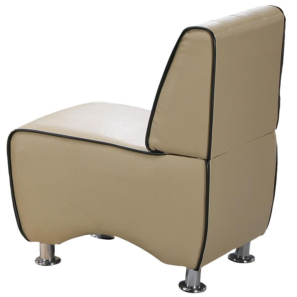 【COUCH】極簡印象單人座皮沙發(二色可選)