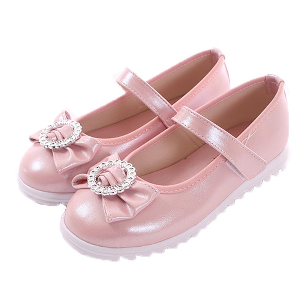 蝴蝶結魔鬼貼優雅公主鞋 銀粉 sk0327 魔法Baby product image 1