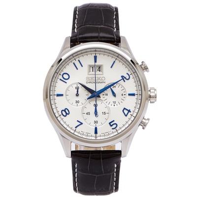 SEIKO 帥氣競速男性手錶(SPC155P1)-銀面/42mm