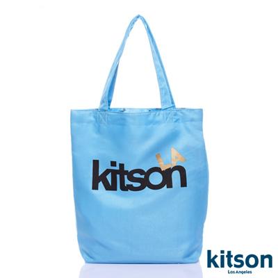 kitson  L.A.-LOGO購物袋/托特包  水藍