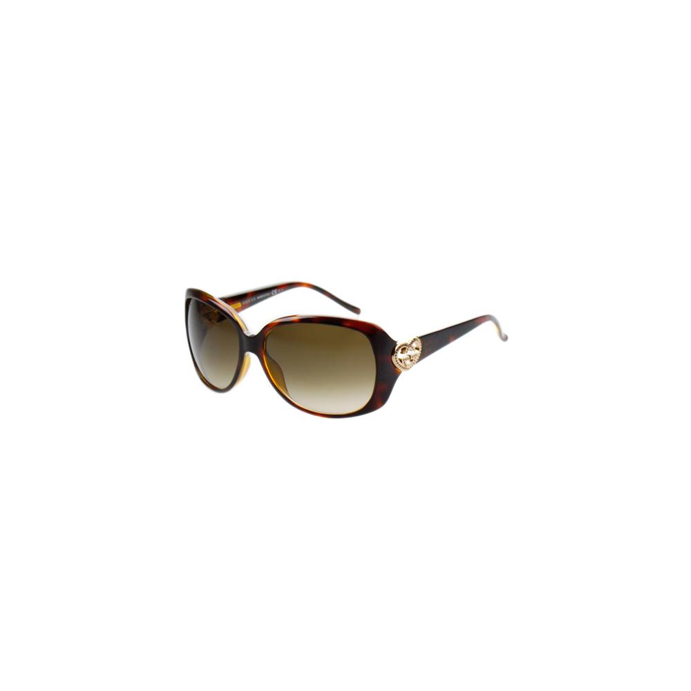GUCCI-時尚太陽眼鏡(琥珀/黑色)