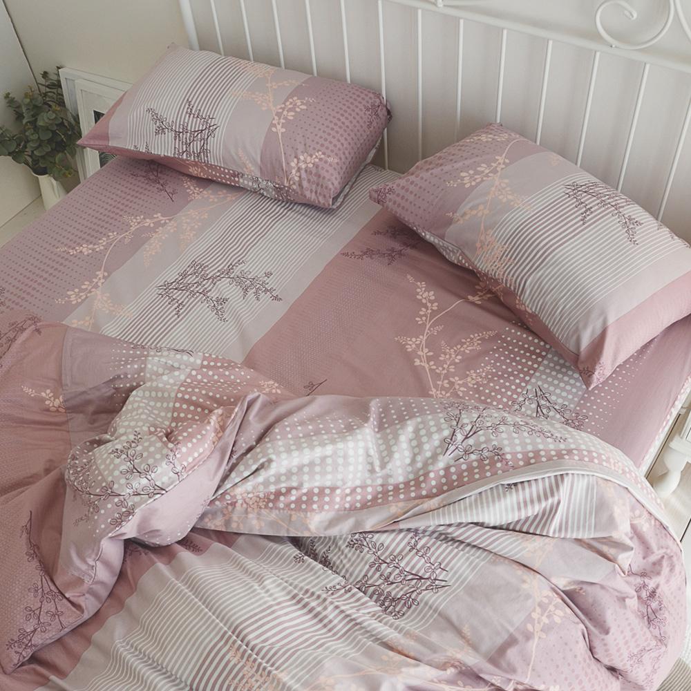 絲薇諾 MIT精梳純棉 上野之森-花開 加大四件式-薄床包薄被套組