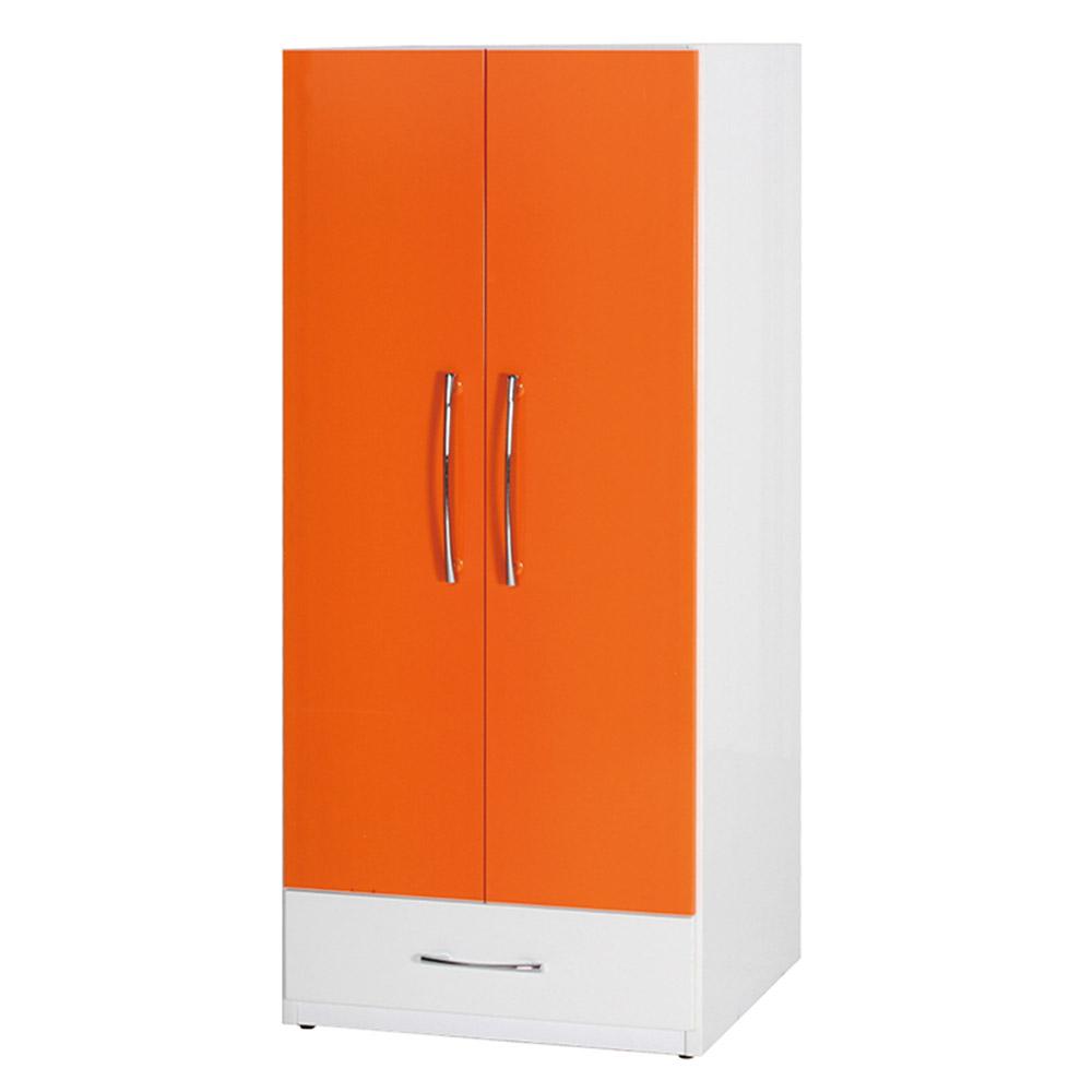 Bernice-防潮防蛀 塑鋼2.1尺二門一抽衣櫃(十一色)-64x63x180cm