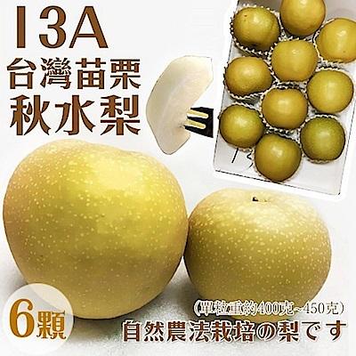 【天天果園】台灣秋水梨13A(420g/顆) x6顆